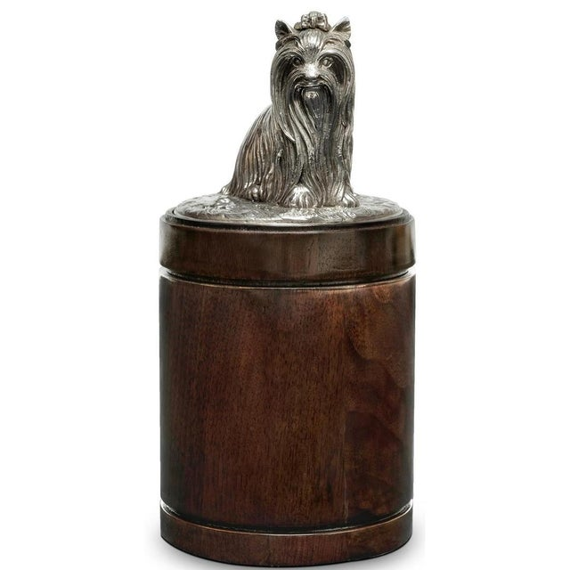 Transitional Scarborough House Dog Handle American Canister For Sale - Image 3 of 3