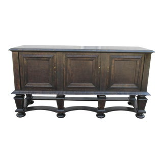 1940s Vintage Swedish Sideboard in Circassian Walnut For Sale