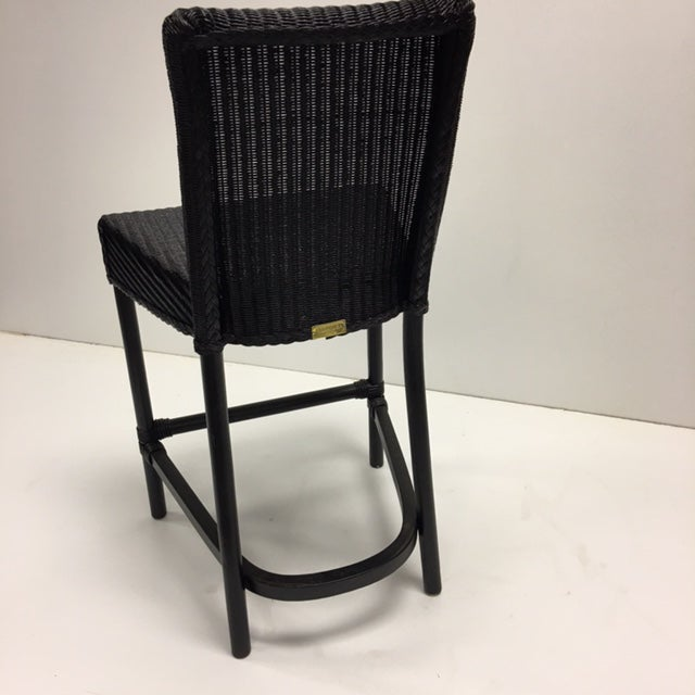 Black Loom Counter Height Stools - A Pair - Image 4 of 5