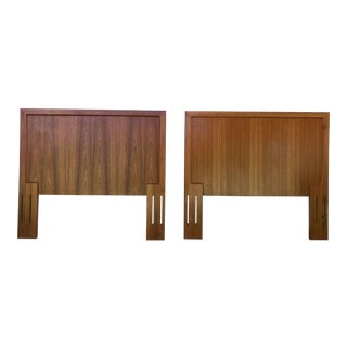 1960s Danish Modern Teak Twin Headboards - a Pair For Sale