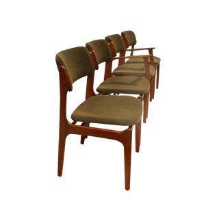 Erik Buch for Oddense Maskinsnedkeri Teak Dining Chairs - Set of 4 For Sale
