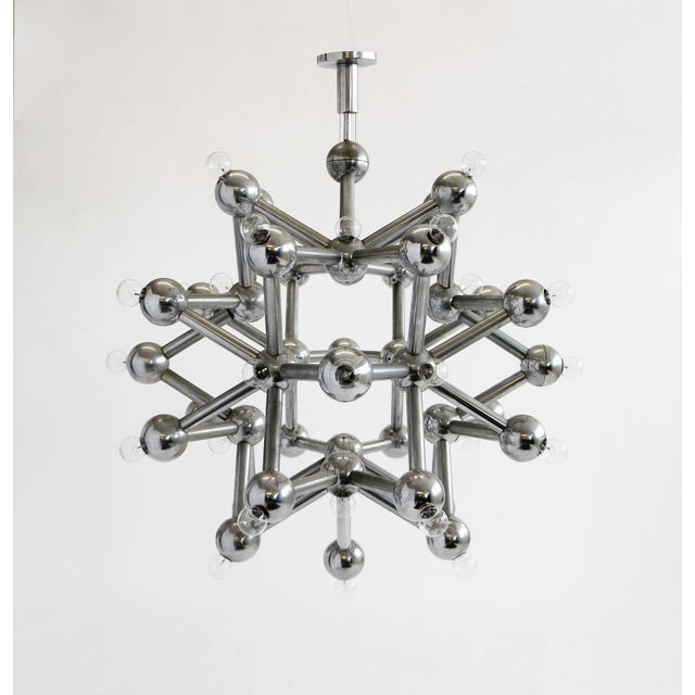 Mid-Century Modern Molecular Chandelier by Kalmar For Sale - Image 3 of 4