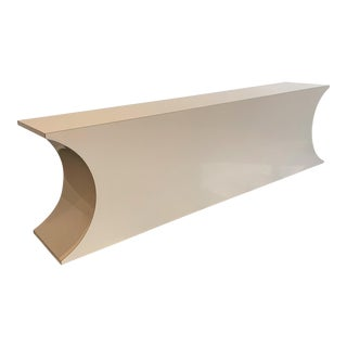 Postmodern Geometric Laminate Console Table For Sale