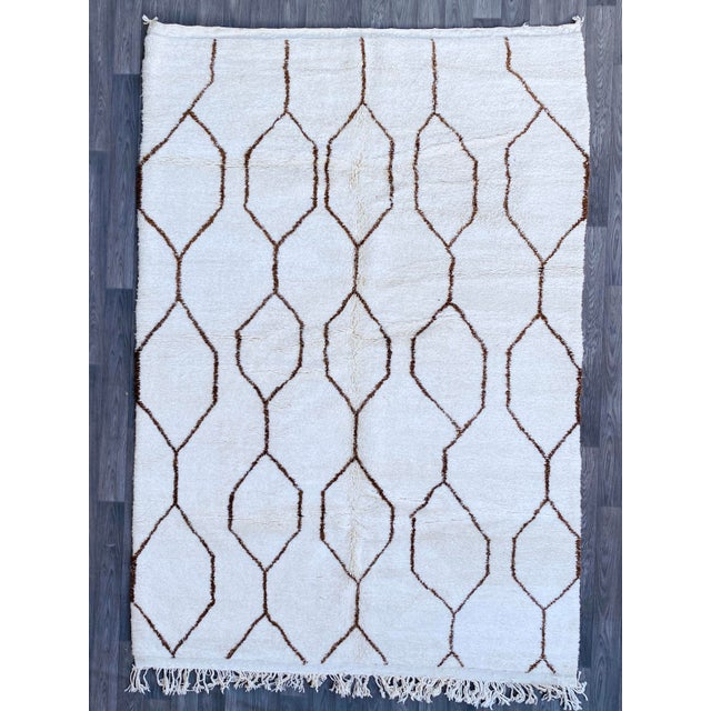 Moroccan Ben Ourain Rug- 6′7″ × 9′8″ For Sale - Image 12 of 12