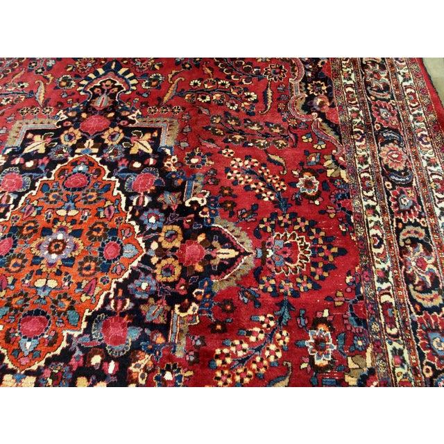 Islamic 1910s handmade antique Persian Mashad rug 10.2' x 13.9' For Sale - Image 3 of 11