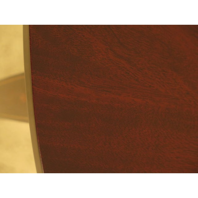 Henkel Harris Inlaid Federal Mahogany Dining Room Table For Sale In Philadelphia - Image 6 of 13