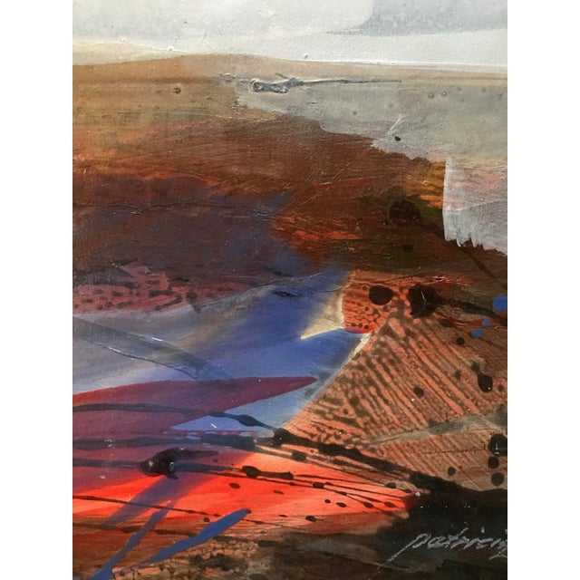 """1980s 1980s Mixed Media Bay Area Artist """"Beach Skyline"""" For Sale - Image 5 of 7"""