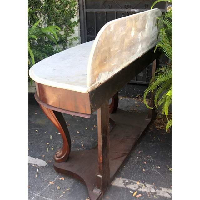 Mid 19th Century Antique Victorian Mahogany Dry Sink Bar For Sale - Image 5 of 6