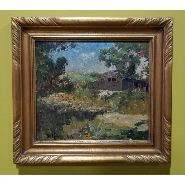 Canvas Franklin De Haven Tonalist Painting For Sale - Image 7 of 7