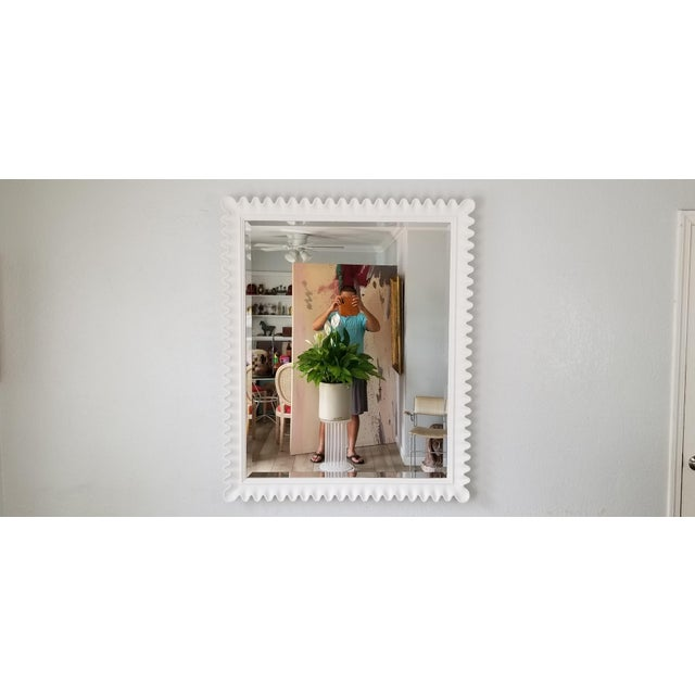 Hollywood Regency Marge Carson Scalloped Wall Mirror . For Sale - Image 3 of 9