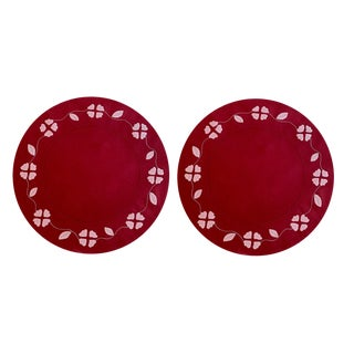 Matisse Placemats in Red and Pink - Set of 2 For Sale