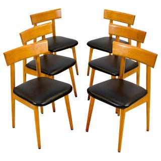 Set of Six Midcentury Dining Chairs, Conant Ball For Sale