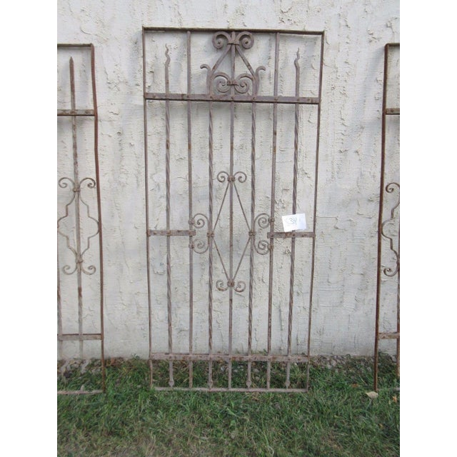 Antique Victorian Iron Gate Architectural Salvage - Image 3 of 7