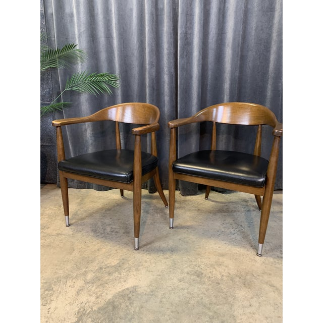Mid-Century Modern Boling Chair Co. Sculptural Arm Chairs - a Pair For Sale - Image 10 of 12