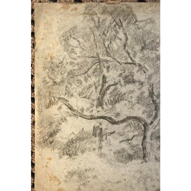 Eliot Clark Wooded Landscape Drawing For Sale - Image 4 of 6