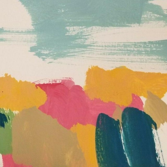 Abstract Expressionism Jose Trujillo Landscape Original Modernist Acrylic on Paper Painting For Sale - Image 3 of 5