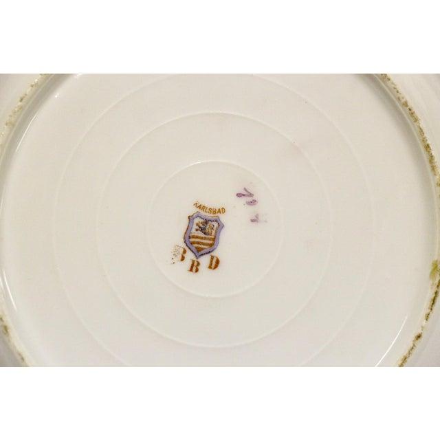 Ceramic Antique Austrian Dessert Plates, S/11 For Sale - Image 7 of 8