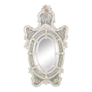 Decorated Venetian Mirror For Sale