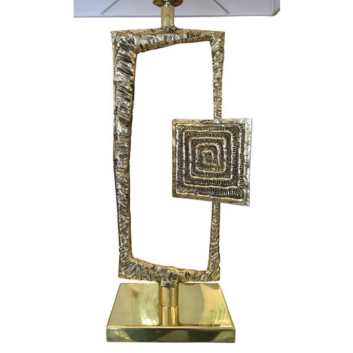 "Esperia Sculptural Cast Bronze ""Tea"" Table Lamp by Esperia For Sale - Image 4 of 6"
