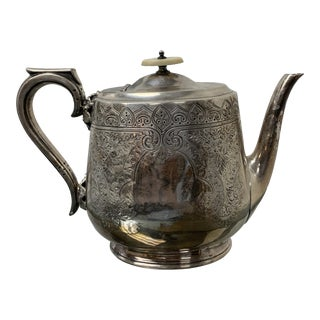Vintage Walker & Hall Sterling Silver Teapot England Stamped Sheffield For Sale