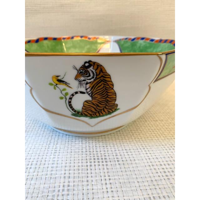 Late 20th Century Late 20th Century Vintage Lynn Chase Tiger Raj Octagonal Bowl For Sale - Image 5 of 10