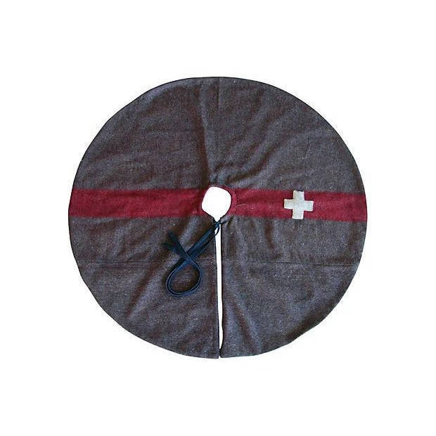 Custom Swiss Wool Blanket Christmas Tree Skirt - Image 6 of 6