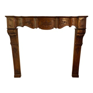 Antique Wood Mantel For Sale