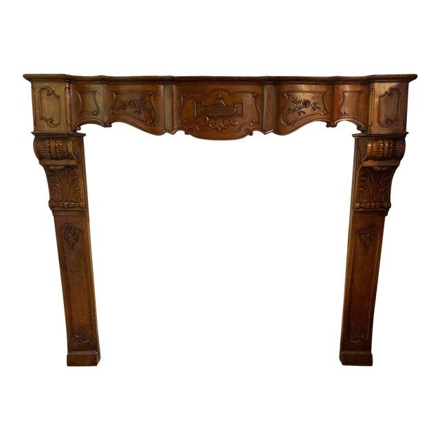 Antique Wood Mantel For Sale