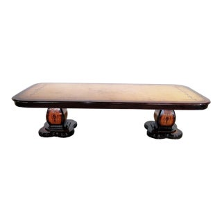 Large Inlaid Double Pedestal Banquet Table For Sale