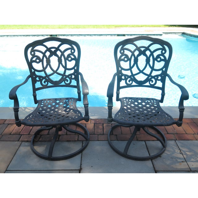 Swell Darlee Cast Aluminum Table Chair Patio Set Set Of 11 Home Interior And Landscaping Spoatsignezvosmurscom