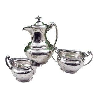 Antique English Sheffield Tea Set - 3 Piece