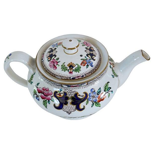 Cottage Antique Mintons Hand-Painted Floral Teapot For Sale - Image 3 of 5