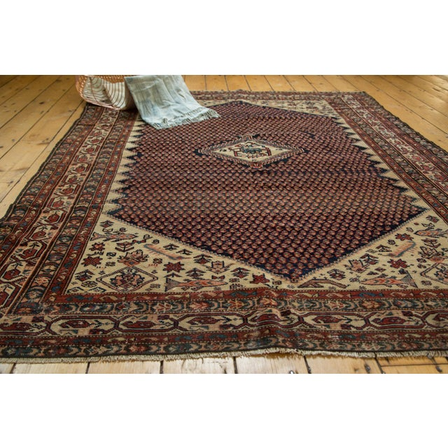 "Islamic Vintage Mission Malayer Square Rug - 5'5"" x 6'7"" For Sale - Image 3 of 10"