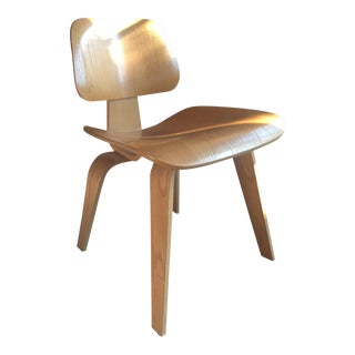 1940s Vintage Eames Molded Plywood Dining Chair For Sale