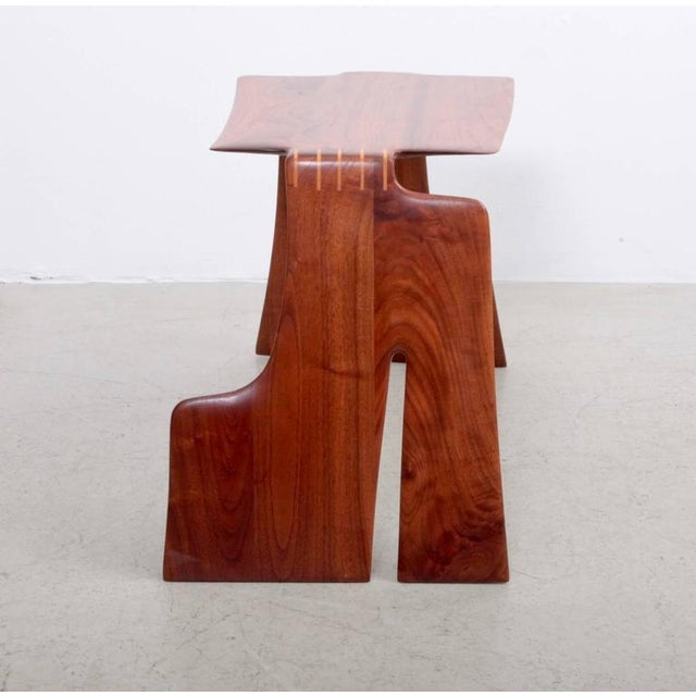 Robert A. Schultz Studio Side Table in Solid Walnut For Sale - Image 4 of 8