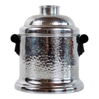Vintage Art Deco Chrome & Bakelite Humidor Jar For Sale