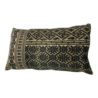 Boho Linen Amber Shoppe Lumbar Throw Pillow For Sale
