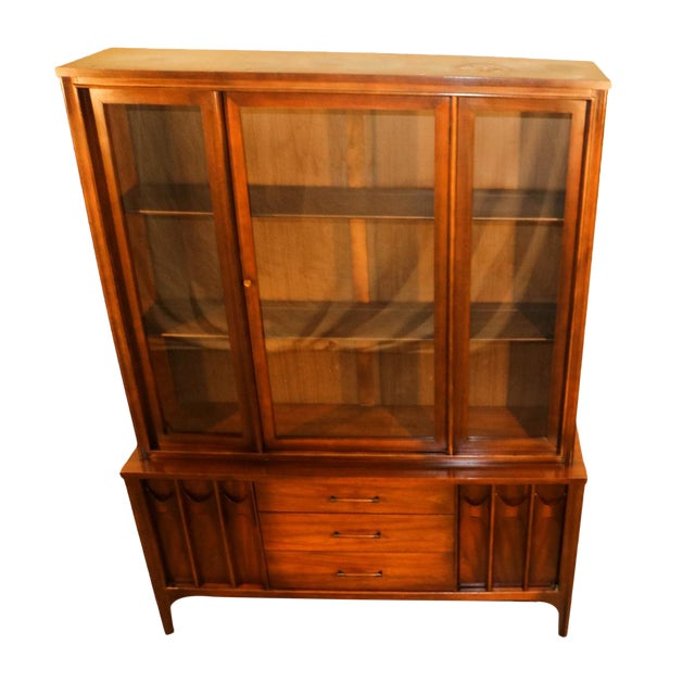 Kent Coffey Perspecta Mid-Century Modern China Hutch Cabinet For Sale