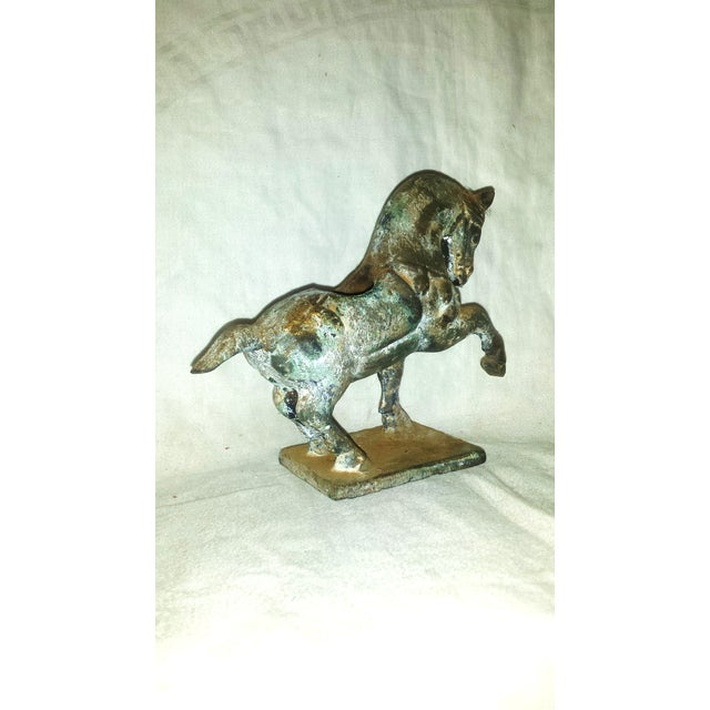 Antique Chinese Cast Iron Tang Horse Figurine - Image 4 of 7