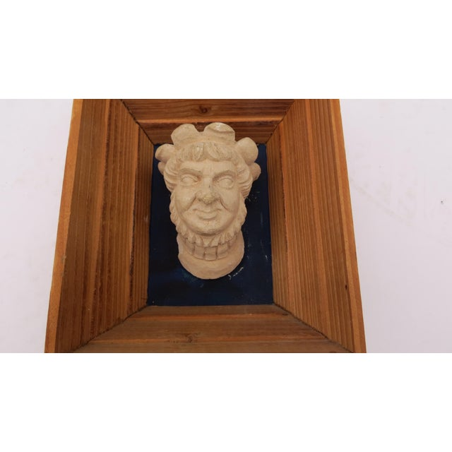 1970s Vintage Souvenir Framed Busts - A Pair For Sale - Image 5 of 7