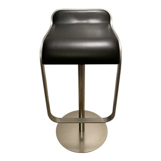 La Palma Black Leather Lem Piston Bar Stool For Sale