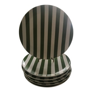 Modern Kate Spade by Lenox Dinner Green Plates- Set of 6 For Sale