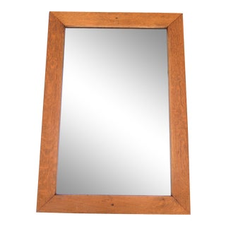 Early 20th Century Antique Arts & Crafts Mission Oak Wall Mirror For Sale