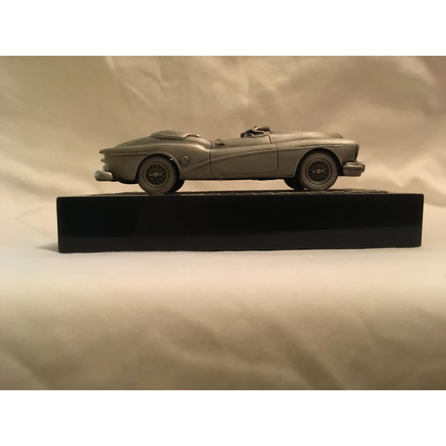 1953 C.Rufo Buick Convertiable Pewter Model Car For Sale - Image 12 of 13