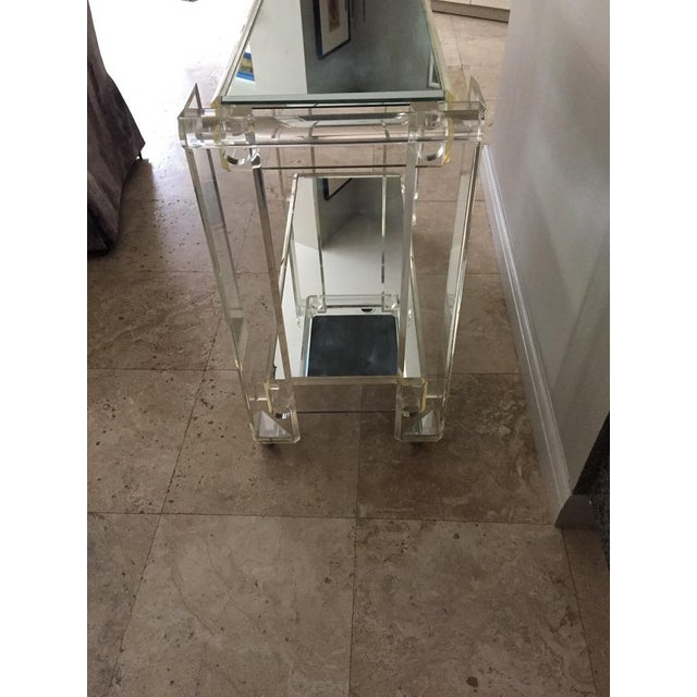 1970s Mid-Century Modern Mirrored Bar Cart Trolley For Sale In Naples, FL - Image 6 of 13
