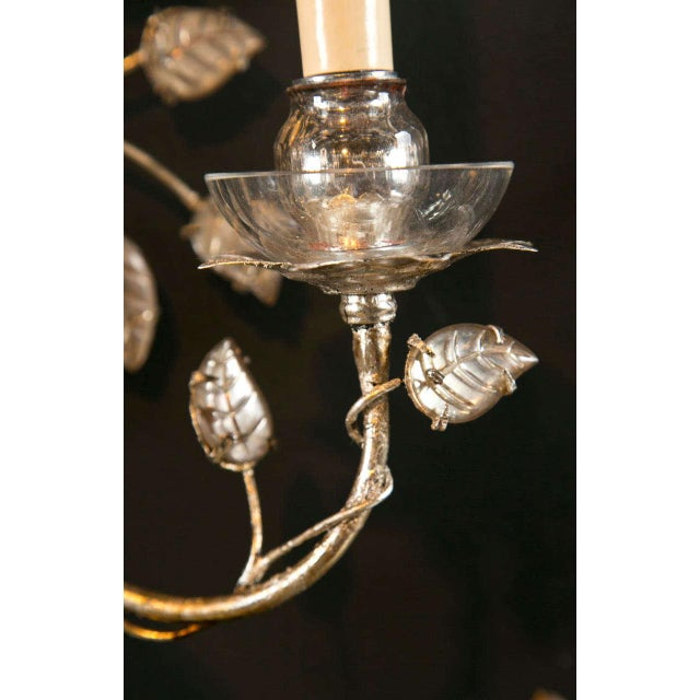 Metal 1930s French Silver Leaf Sconces - a Pair For Sale - Image 7 of 9