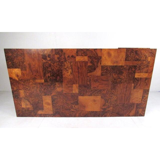 """Paul Evans Paul Evans """"Cityscape"""" Burlwood Executive Desk For Sale - Image 4 of 13"""