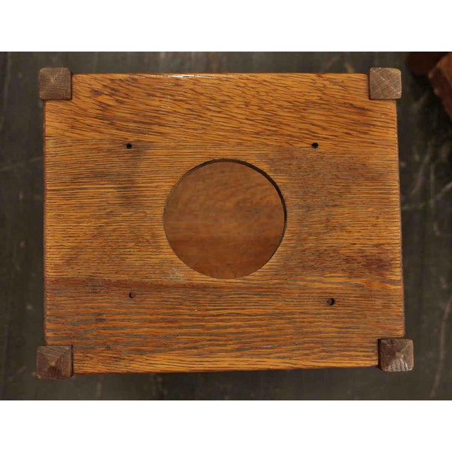 20th Century Arts and Crafts Humidor Oak Pipe & Ashtray Stand For Sale In New York - Image 6 of 8