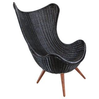 Ebony Wicker Egg Chair