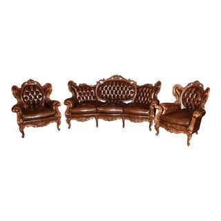 Antique French Rococo Parlor Set - Set of 3 For Sale